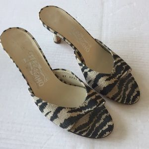 Salvatore Ferragamo Animal Print Kitten Heels